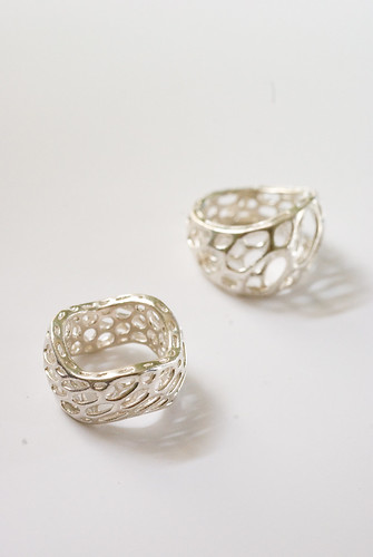 ring prototypes in sterling silver