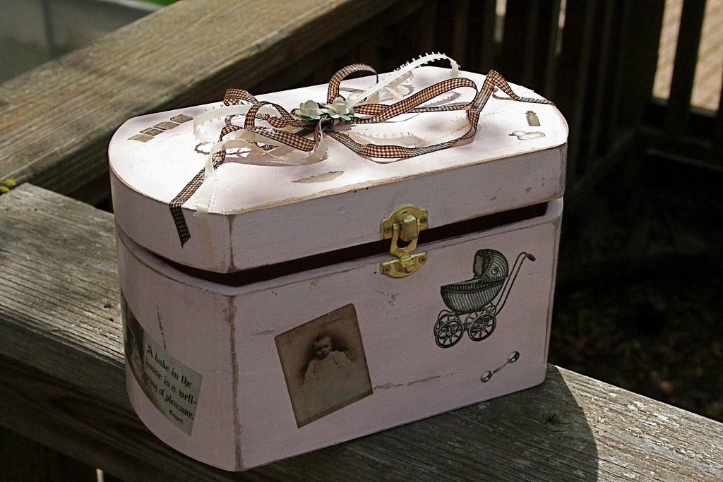 Shabby Chic Baby Box
