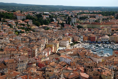 フリー画像| 人工風景| 建造物/建築物| 街の風景| クロアチア風景| ロヴィニ|      フリー素材|