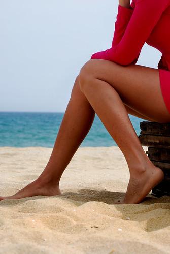 Fitness da spiaggia per le gambe