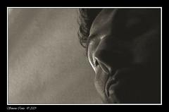 Suspicious (simone|cento) Tags: portrait bw bn seppia