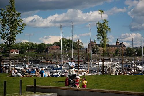 Utsikt mot Akershus festning