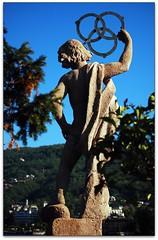 borromean rings (beesquare) Tags: italy mountains alps statue italia scenic azalea isolabella piedmont lagomaggiore lakemaggiore stresa borromeanrings