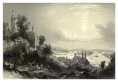 030- Ciudad de Buda en Hungria vista tomada desde el observatorio 1844