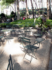 Bryant Park, Seating Terrace!