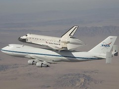 Space Shuttle Atlantis Takes Off From Dryden (6/1/09) (NASA's Marshall Space Flight Center) Tags: atlantis spaceshuttle piggyback edwardsairforcebase ferryflight drydenresearchcenter