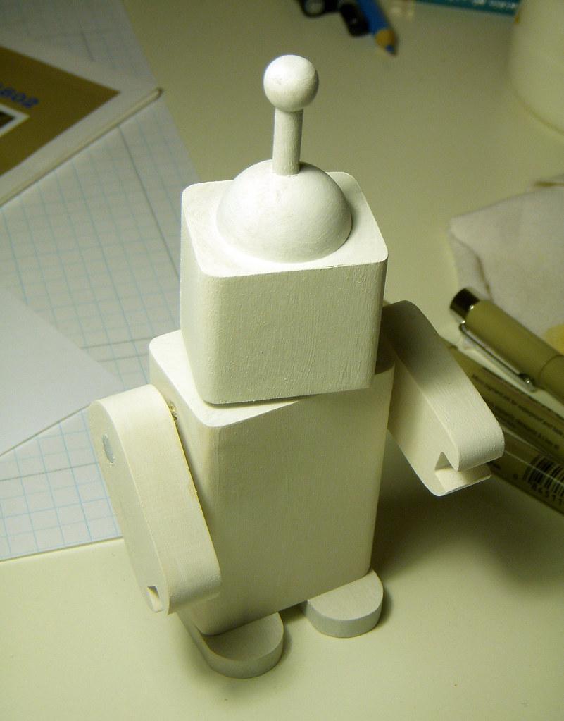 WaddleBot blank wood toy