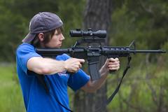 The Exact Moment (Schlsselbein2007) Tags: gun ar15 casing 223 semiauto gunfire assaultrifle gewehr d40