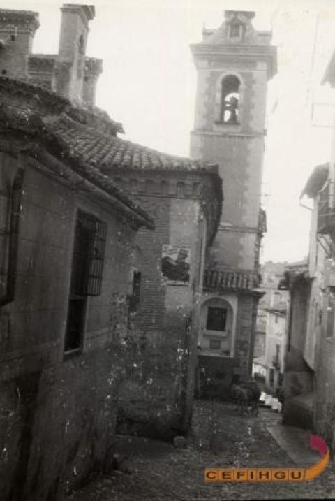 Iglesia de San Justo (Toledo) a inicios del siglo XX. Legado Layna Serrano, Centro de la Fotografía y la Imagen Histórica de Guadalajara