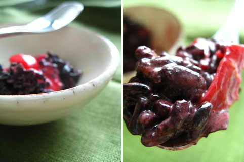 beetroot curry with black rice
