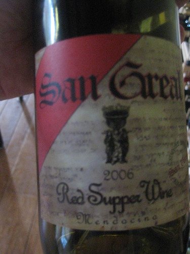 2006 San Greal Red Supper Wine