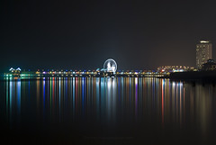 Eye On Malaysia - Melaka (Firdaus Mahadi) Tags: city longexposure reflection art beach wheel night landscape lights rainbow colorful arts ferris malaysia ferriswheel gondola colourful bigwheel melaka malam malacca seni lampu longexposures bandar nikkor50mmf14d colorfulreflection bandarhilir warnawarni pulaumelaka eyeonmalaysia manfrotto055xprob malaccahistoricalcity selatmelaka tokina1116f28 melakastrait firdausmahadi melakabandarayabersejarah firdaus wwwfirdausmahadicom