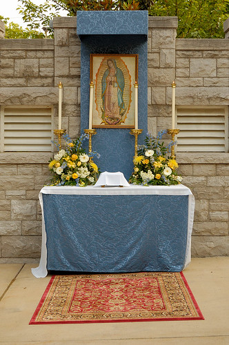 Cathedral Basilica of Saint Louis, in Saint Louis, Missouri, USA - Corpus Christi procession 5 (Our Lady of Guadelupe altar)