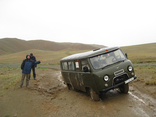 Proof that even Russian jeeps get stuck