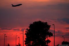 Flying Away (pim van den heuvel) Tags: tree netherlands amsterdam canon lens eos flying den nederland away pim kit mm van taking carpark schiphol 747 heuvel 55200 aiplane 400d boeiing pimvdh