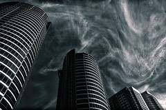 dancing clouds (syncros) Tags: toronto st clouds front infrared lovely cityplace