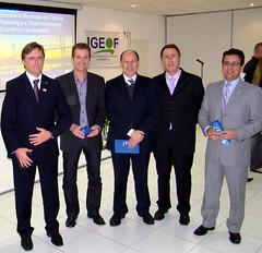Autoridades no lançamento da Secretaria de C&T de Florianópolis. Crédito: Rodrigo Lóssio