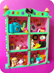 Gift for Missy (SnitchesGetStitches) Tags: pink color cute green thanks glitter train vintage miniatures crazy colorful paint mail handmade teal awesome stickers mint strawberries kitsch retro plastic thrift gift icecream kawaii surprise rement clowns lowes package gumball hotglue bubbleyum krazyglue boopsiedaisy