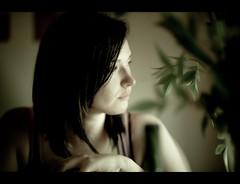 Highlight the Ambiance (Neil Kronberg) Tags: light portrait girl leaves rachel nikon dof bokeh f14 profile 85mm ambient nikkor d3
