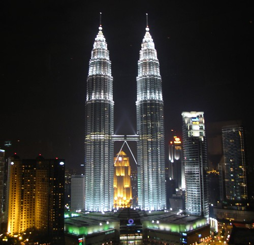 Petronas Towers from Sky Bar at Traders Hotel