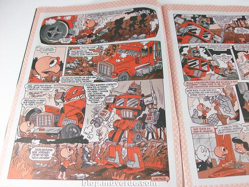 Condorito, homenaje a Transformers