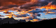 Twilight at Lake Louise (Jeff Clow) Tags: mountains nature weather clouds twilight dusk lakelouise albertacanada banffnationalpark canadianrockies