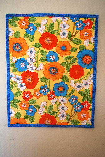 Oranges Mini-Quilt Backing