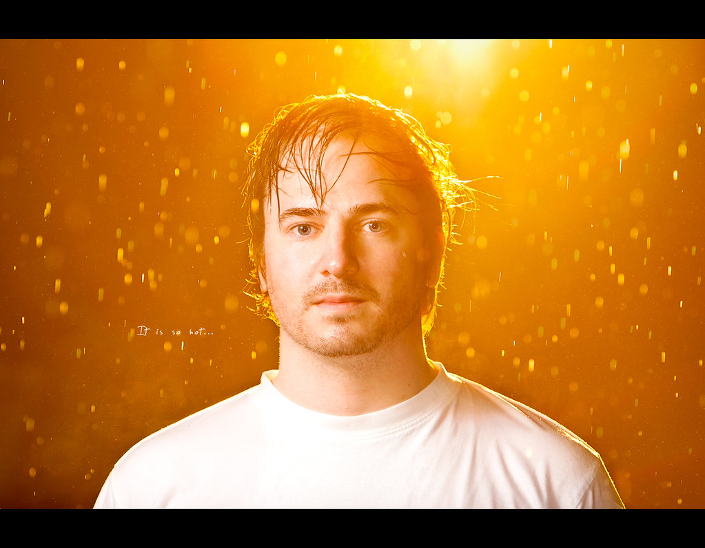 Project 365, 305/365, Day 305, Self Portrait, Strobist, Bokeh, rain, glow, sun, wet, wet hair, raining, water, bokeh bubbles, bokeh balls, Canon EF 70-200 f2.8 IS,