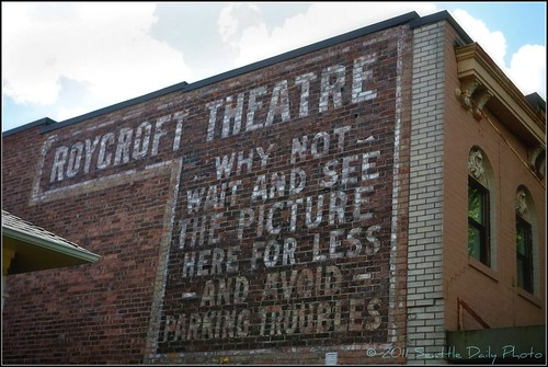 Ghost Sign on the Roycroft Theatre