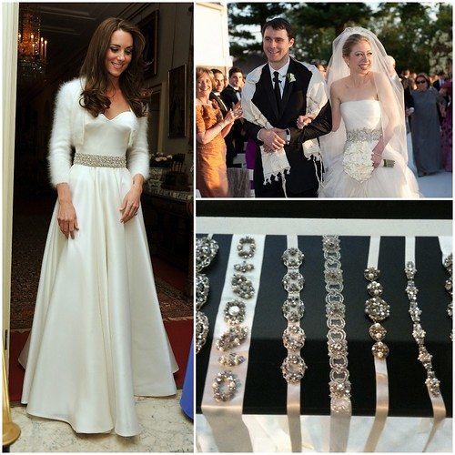 Bridal belts, Kate Middleton second wedding gown, Chelsea Clinton Bridal Belt, Haute Bride Belts,   Love Couture Bridal, Washington DC bridal shop