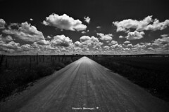 HERE COMES THE SUN (Eduardo Mascagni) Tags: road light sky panorama espaa naturaleza primavera luz nature clouds canon landscape eos spain strada carretera perspective paisaje textures cielo nubes perspectiva texturas paesaggio spagna horizonte albacete orizzonte panormica castillalamancha vanishingpoints mascagni 2011 camposdecastilla puntosdefuga 40d puntidifuga doubleniceshot tripleniceshot mygearandme mygearandmepremium mygearandmebronze mygearandmesilver mygearandmegold ringexcellence eduardomascagni