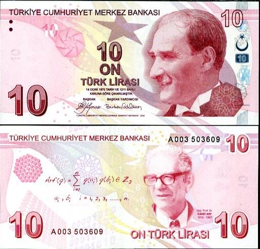 TURKEY 10 LIRA TL 1.1.2009