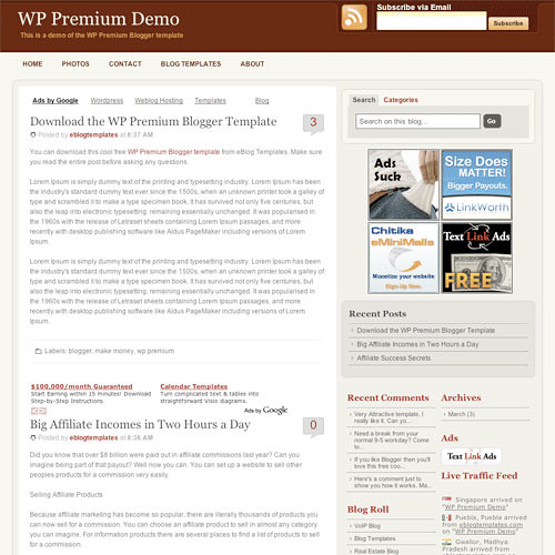 WP Premium Blogspot