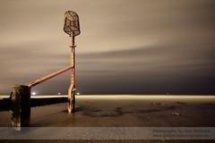 Winter Nights (~Glen B~) Tags: longexposure sea sky beach night clouds coast surf waves ships shore groyne redcar