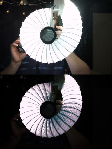 Ringlight with 2 Flashes (and -4stop exposure)
