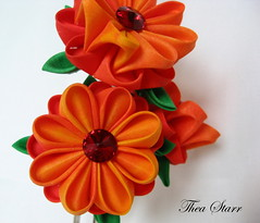 kp_tropics2 (thea superstarr) Tags: seattle flowers flower hair bride colorful colours bright handmade fancy tropical accessories weddings etsy crafty bridal kanzashi theastarr