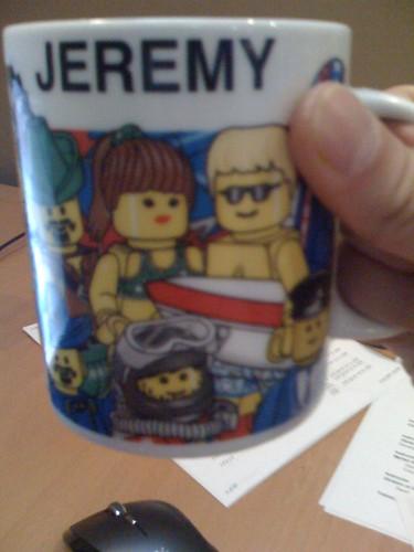 Lego minifig mug