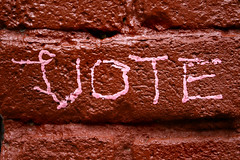 vote (eb78) Tags: sf sanfrancisco street urban streetart art graffiti san francisco tag tags urbanart mission scrawl missiondistrict vote themission sanfranciscostreetart guerillaart missionstreetart