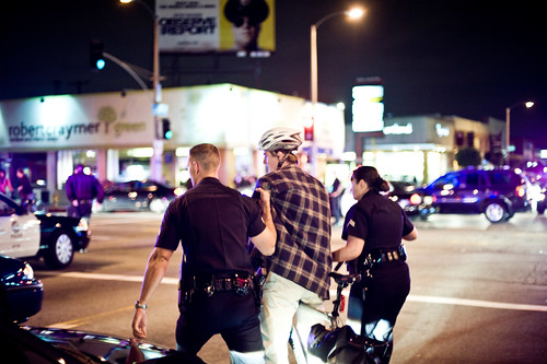 Grabbed out of the crowd, LAPD gives bogus, frivolous, and spiteful citations to cyclists