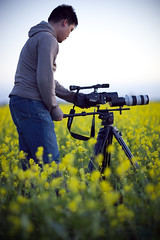 Stanley (simpsonyiu.com) Tags: coyote park blue sunset sky green water yellow 35mm canon lens video tripod gear fremont hills stan stanley adapter hdv minidv law hd letus camcorder 70200mm 1080i 20x f28l xha1