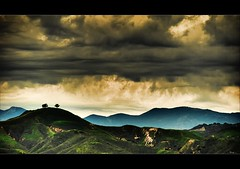 Storming over Two Trees (...-Wink-...) Tags: mountains tree clouds photoshop 8 explore top10 18 thegimp hdr photomatix nikond80 thesecretlifeoftrees sigma18200hsmos topazadjust topazdenoise mygearandmepremium mygearandmebronze mygearandmesilver mygearandmegold mygearandmeplatinum mygearandmediamond