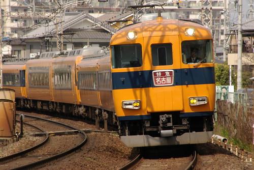 Kintetsu12600series(first 4 cars) in Yamato-Yagi〜Masuga,Kashihara,Nara,Japan 2009/3/29