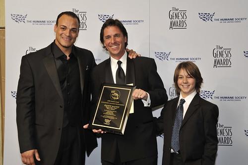 Children's Programming Awardee Rick Gitelson with Presenters Jarrod Cooper & Dominic Scott Kay