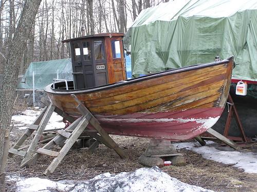 Puuvene Rastilan venesatamassa