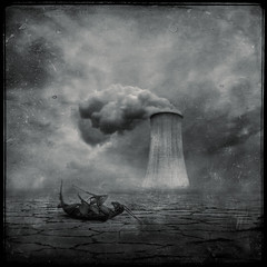 Dreamscape VII (Midnight - digital) Tags: sky art toxic bug dark square dead death artwork industrial smoke air apocalypse atmosphere nuclear dry eerie dreams nightmare powerplant cockroaches atomic serie dreamscape deathmetal obscure fallout suffocation postnuke godflesh midnightdigital hourofthesoul christophedessaigne