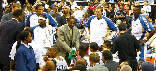 Gilbert Arenas coaches the Wizards