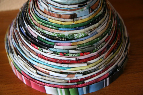 recycled magazine bowl
