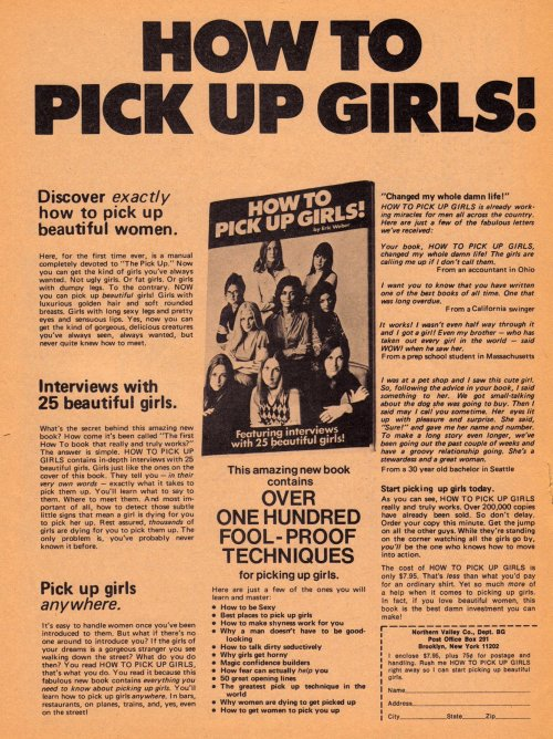 Vintage Ad #635: How to Pick Up Girls!