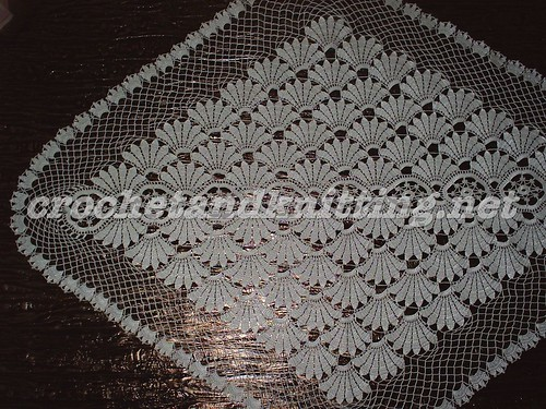 Square lace crochet Doily