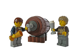 "Cheers! ""The Northland"" beer keg. (THE BRICK TIME Team) Tags: brick beer lego barrel northland keg nordland fass grimmhaven"